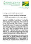 Download Pressemitteilung - Holzenergie deckt über 40 % des heimischen Raumwärmebedarfs